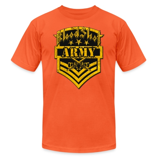 BloodShot ARMYLogo Gold /Black - Unisex Jersey T-Shirt by Bella + Canvas