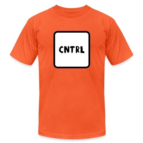 White CNTRL Logo - Unisex Jersey T-Shirt by Bella + Canvas