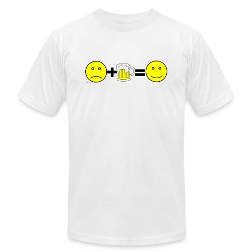 Beer: Liquid Happiness Men's 3XL/4XL Hooded Sweats - Unisex Jersey T-Shirt by Bella + Canvas