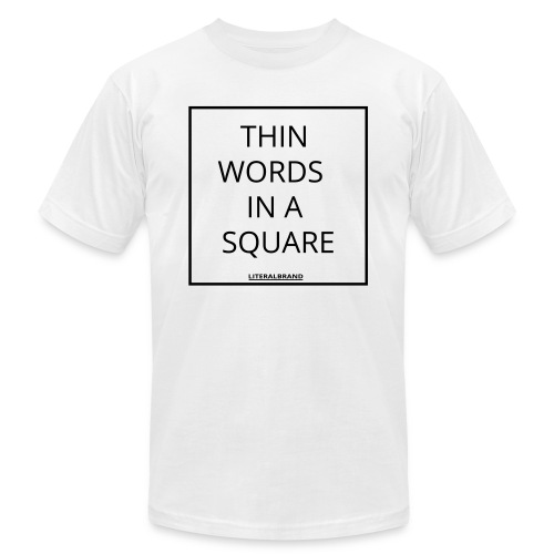 words in a square - Unisex Jersey T-Shirt by Bella + Canvas