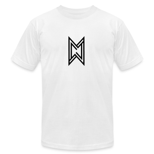 Black Logo White T-Shirt - Men's  Jersey T-Shirt