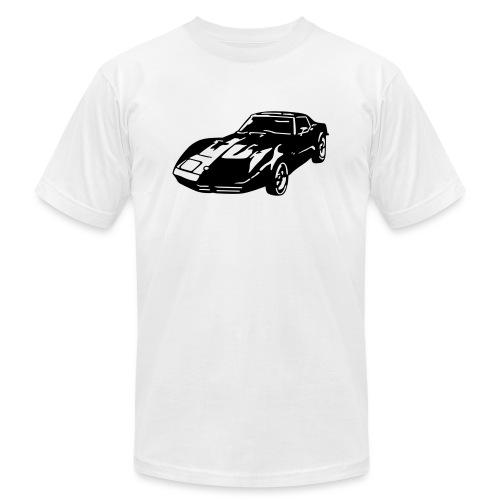 auto_80s_chevrolet_corvette_1c - Unisex Jersey T-Shirt by Bella + Canvas