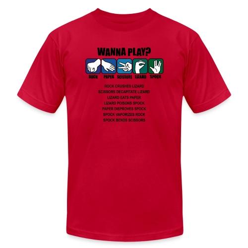 rock paper scissors lizard spock shirt - Unisex Jersey T-Shirt by Bella + Canvas