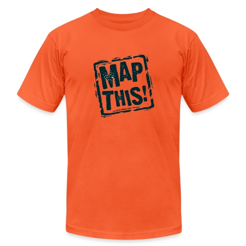MapThis! Black Stamp Logo - Unisex Jersey T-Shirt by Bella + Canvas