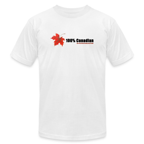 100% Canadian - Unisex Jersey T-Shirt by Bella + Canvas