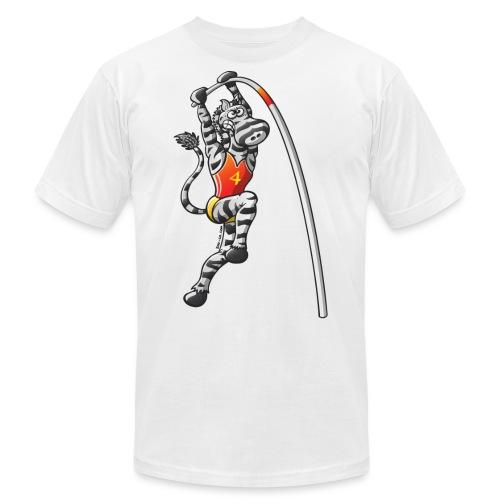 Olympic Pole Vault Zebra - Unisex Jersey T-Shirt by Bella + Canvas
