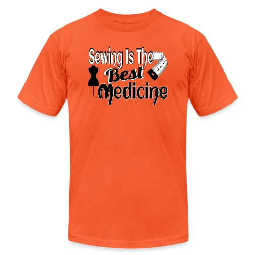 SEWING IS THE BEST MEDICINE - Unisex Jersey T-Shirt by Bella + Canvas