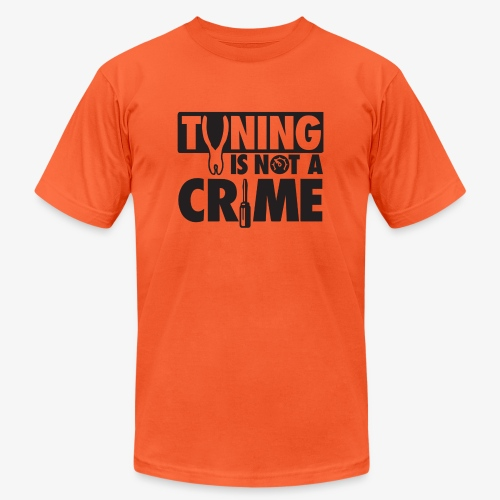 Tuning is not a crime - Unisex Jersey T-Shirt by Bella + Canvas