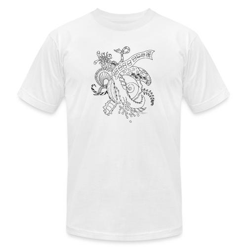 Fantasy black scribblesirii - Unisex Jersey T-Shirt by Bella + Canvas