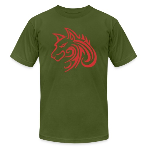 3d31c4ec40ea67a81bf38dcb3d4eeef4 wolf 1 red wolf c - Unisex Jersey T-Shirt by Bella + Canvas