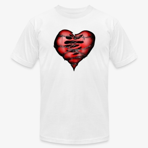 Chains Heart Ceramic Mug - Unisex Jersey T-Shirt by Bella + Canvas