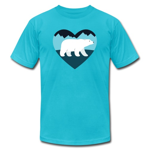Polar Bear Love - Unisex Jersey T-Shirt by Bella + Canvas