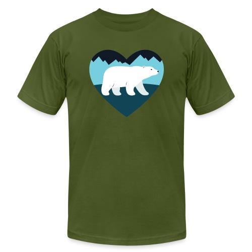 Polar Bear Love - Unisex Jersey T-Shirt by Bella + Canvas