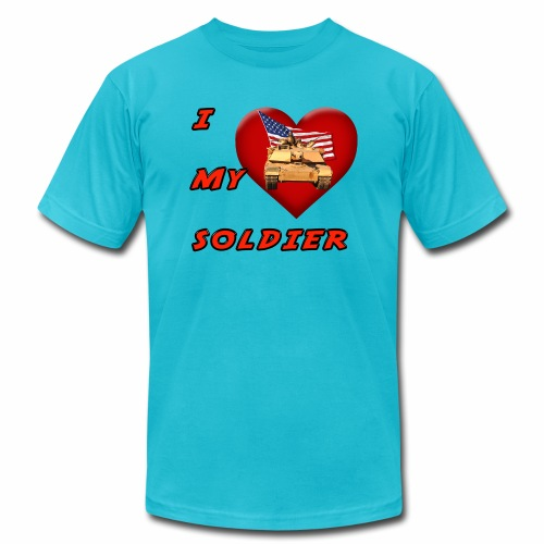 I Heart my Soldier - Unisex Jersey T-Shirt by Bella + Canvas