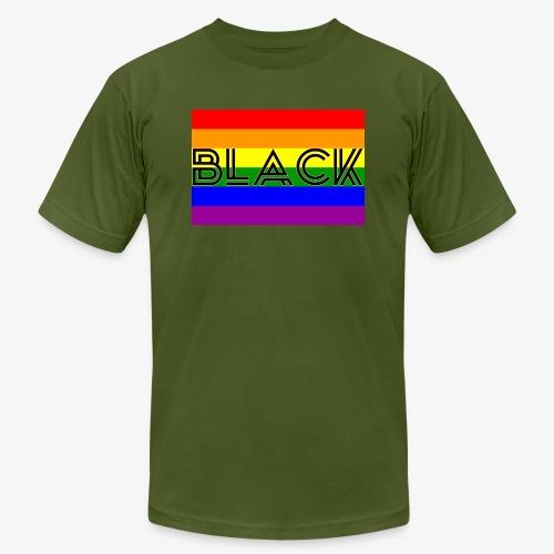 Black LGBTQ - Men's Jersey T-Shirt