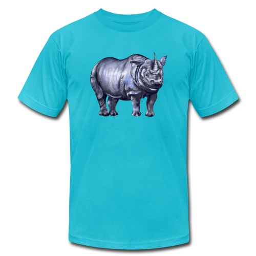 One horned rhino - Unisex Jersey T-Shirt by Bella + Canvas
