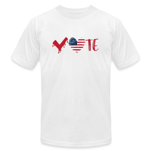 vote heart red - Unisex Jersey T-Shirt by Bella + Canvas