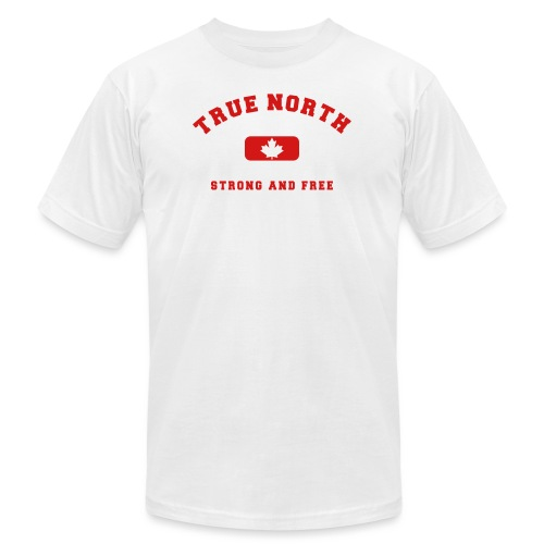 True North Strong and Free - Men's Jersey T-Shirt