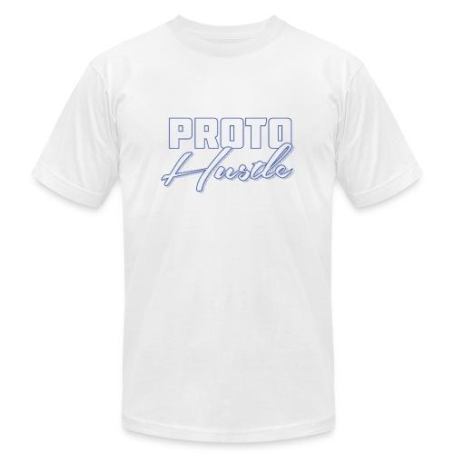 PROTO HUSTLE LOGO BLUE - Men's  Jersey T-Shirt