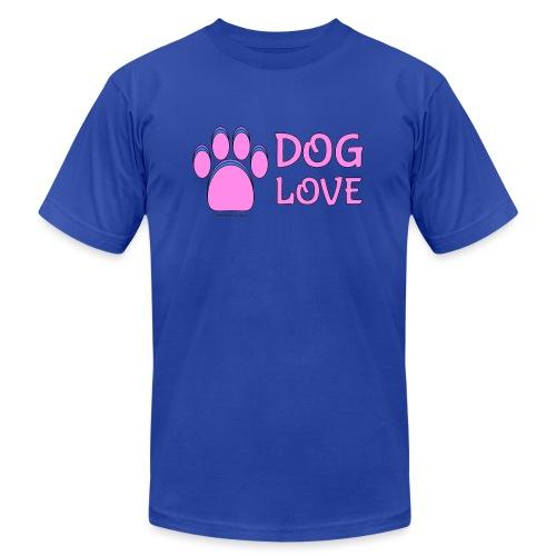Pink Dog paw print Dog Love - Unisex Jersey T-Shirt by Bella + Canvas