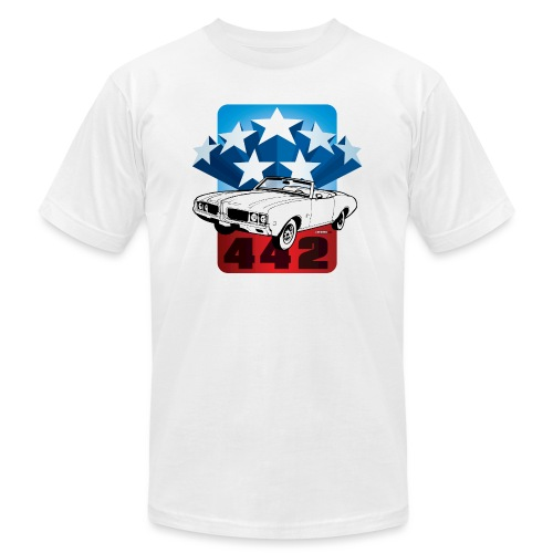 auto_oldsmobile_442_001 - Unisex Jersey T-Shirt by Bella + Canvas