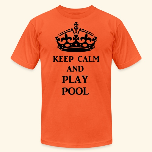 keep calm play pool blk - Unisex Jersey T-Shirt by Bella + Canvas