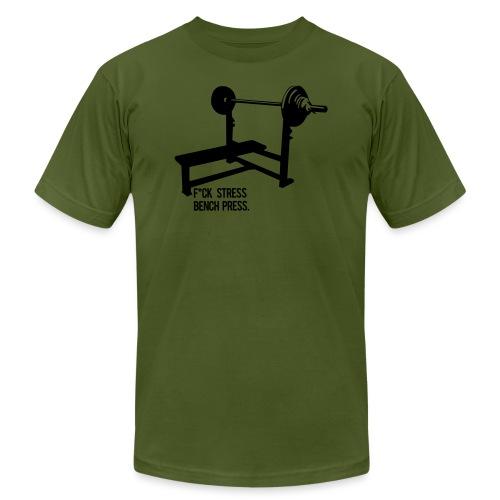 F*ck Stress bench press - Unisex Jersey T-Shirt by Bella + Canvas