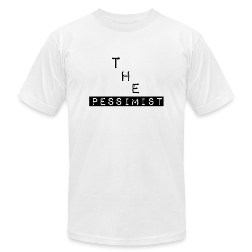The Pessimist Abstract Design - Unisex Jersey T-Shirt by Bella + Canvas