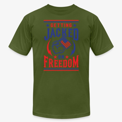 Getting Jacked On Freedom - Men's Jersey T-Shirt