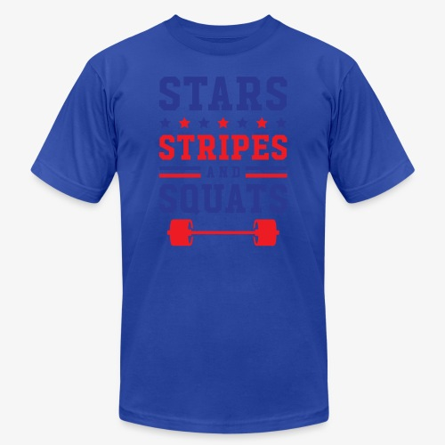 Stars, Stripes And Squats - Men's  Jersey T-Shirt