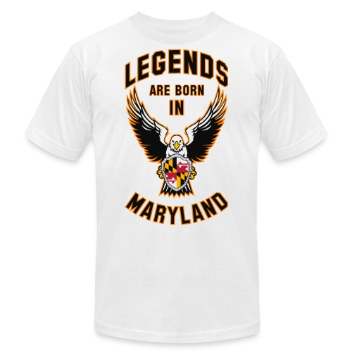 Legends are born in Maryland - Men's Jersey T-Shirt