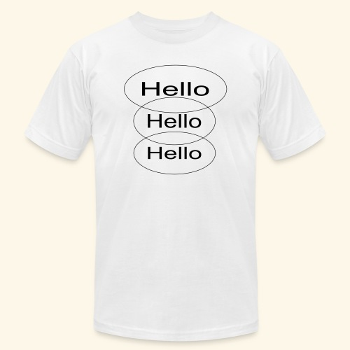 hello - Unisex Jersey T-Shirt by Bella + Canvas