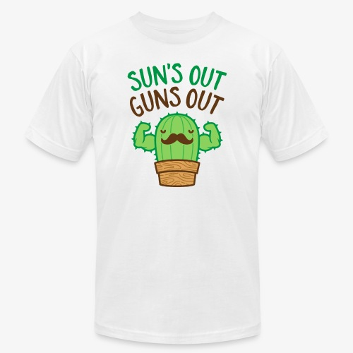 Sun's Out Guns Out Macho Cactus - Men's Jersey T-Shirt
