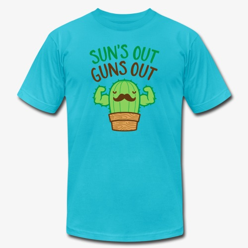 Sun's Out Guns Out Macho Cactus - Men's Jersey T-Shirt