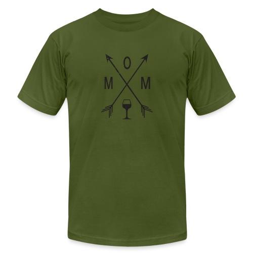Mom Loves Wine (black ink) - Men's  Jersey T-Shirt
