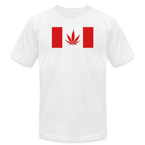 Canadian Pot Flag - Unisex Jersey T-Shirt by Bella + Canvas