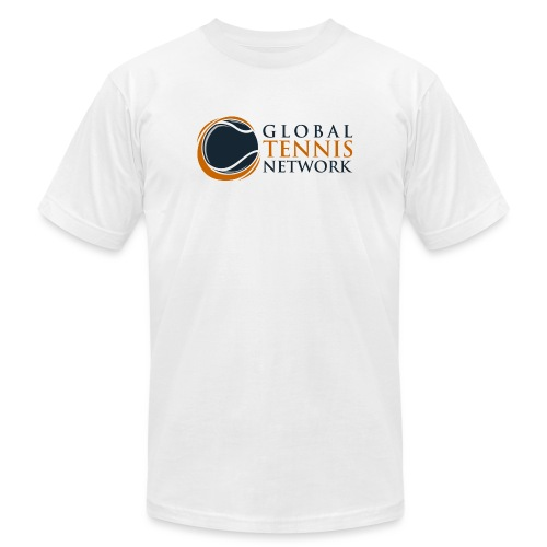 Global Tennis Network on White - Unisex Jersey T-Shirt by Bella + Canvas