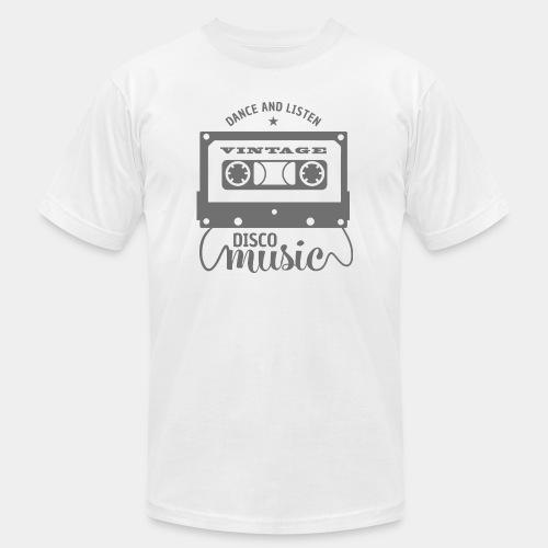 disco music retro vintage - Unisex Jersey T-Shirt by Bella + Canvas