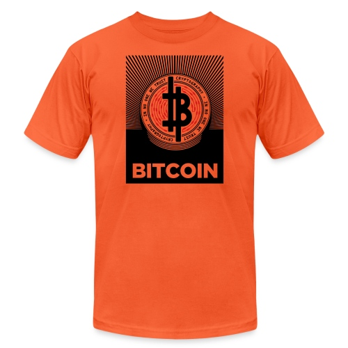 bitcoin_lightbg - Unisex Jersey T-Shirt by Bella + Canvas