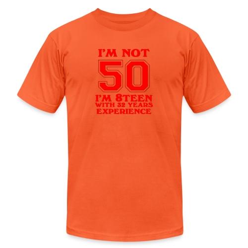8teen red not 50 - Unisex Jersey T-Shirt by Bella + Canvas