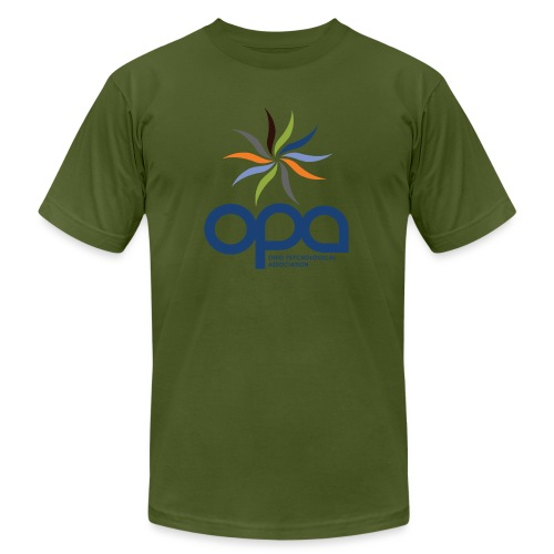 Short-sleeve t-shirt with full color OPA logo - Unisex Jersey T-Shirt by Bella + Canvas
