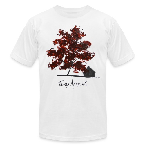 Red Tree on paper png - Unisex Jersey T-Shirt by Bella + Canvas