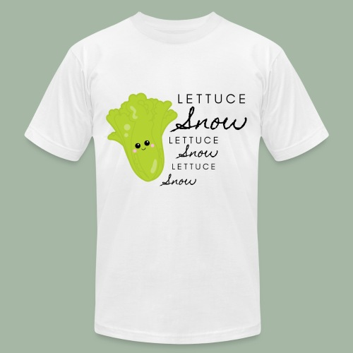 Lettuce Snow - Unisex Jersey T-Shirt by Bella + Canvas