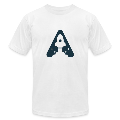 T-shirt with Space Ship. - Men's  Jersey T-Shirt