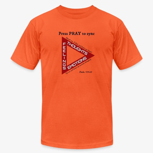 Press PRAY to Sync - Unisex Jersey T-Shirt by Bella + Canvas