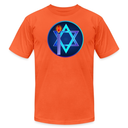 Star Of David and Light - Unisex Jersey T-Shirt by Bella + Canvas
