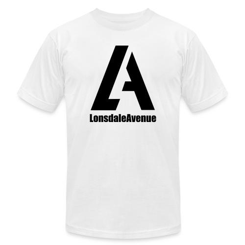 Lonsdale Avenue Logo Black Text - Unisex Jersey T-Shirt by Bella + Canvas