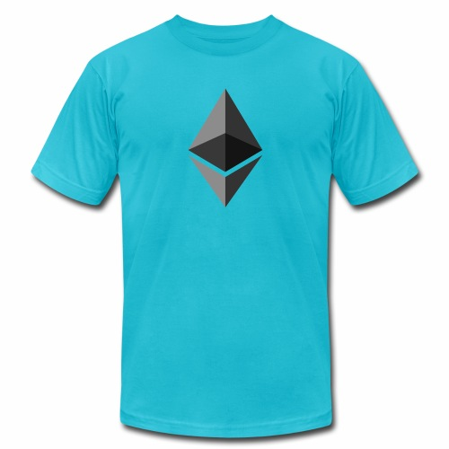 ethereum icon brand - Unisex Jersey T-Shirt by Bella + Canvas
