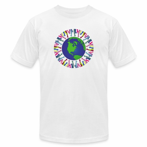 Geometric Art/Human Abstract/Earth Globe - Unisex Jersey T-Shirt by Bella + Canvas