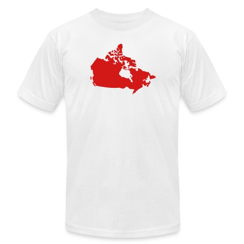 Map of Canada - Unisex Jersey T-Shirt by Bella + Canvas